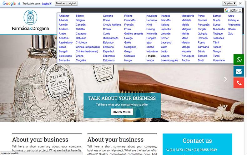 criar site multilingue